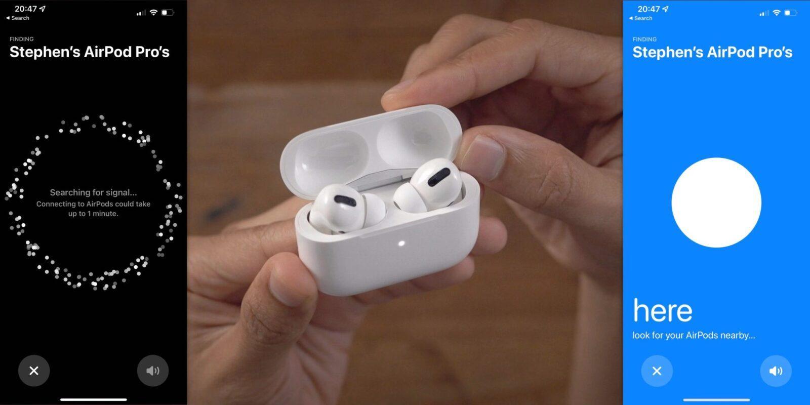 Поиск Apple AirPods Pro и AirPods Max станет проще, благодаря режиму Lost Mode (airpods find my large)