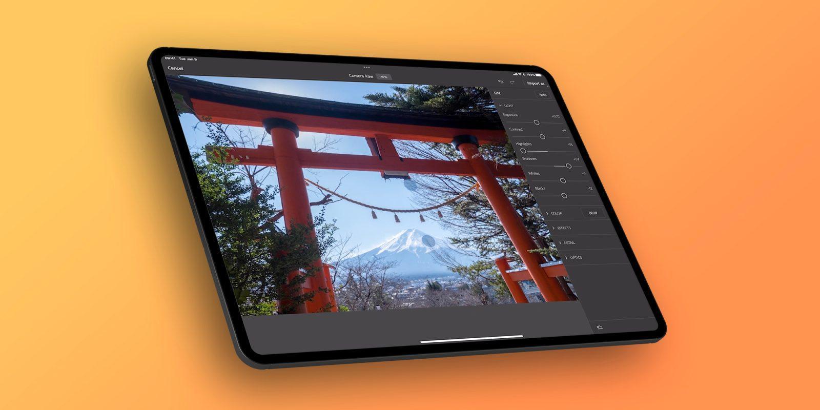 Adobe вводит плагин Camera Raw в Photoshop для iPad (photoshop ipad camera raw)