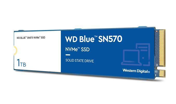 Western Digital обновляет серию WD Blue SSD SN570 DRAM-less NVMe SSD (wd sn570)